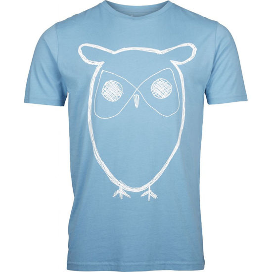 Billede af KNOWLEDGE SINGLE JERSEY T-SHIRT W. OWL PRINT 10184