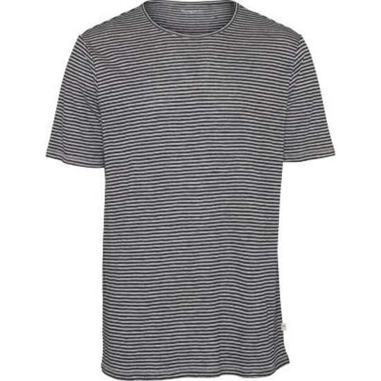 Billede af KNOWLEDGE  NARROW STRIPED LINEN T-SHIRT 10500